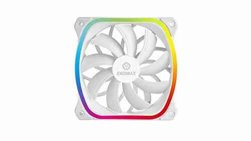 Ventilateur RGB LED Carré pour Boîtier PC ultra silencieux Design Haut de gamme ENERMAX Squa RGB White Adressable 120mm (UCSQARGB12P-W-SG), Pack Unitaire, Plu 1