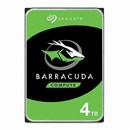 Seagate BarraCuda 4 To, Disque dur interne HDD – 3,5 pouces SATA 6 Gbit/s 5 400 tr/min, 256 Mo de mémoire cache, pour PC de bureau – Ouverture facile (ST40 1