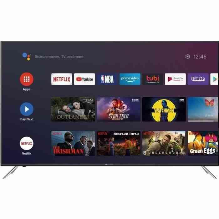 CONTINENTAL EDISON Android TV 70 (176,5 cm) 4K Ultra HD (3840*2160) - HDR -Wi-fi- Bluetooth Netflix - Google Assitant - 1