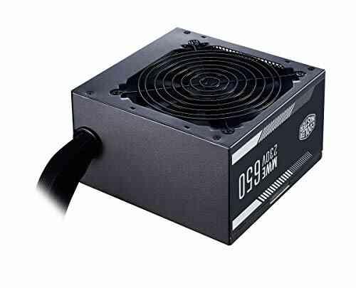Cooler Master MWE 650 White 230V - Alimentation V2 - 80 PLUS 230V Certifié UE, ventilateur 120 HDB silencieux, circuit DC-DC + LLC avec rail simple +12V - Gara 1