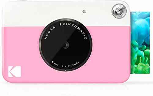 Kodak Printomatic Digital Instant Print Camera - Full Color Prints On ZINK 2 x 3 Inch Sticky-Backed Photo Paper (Pink) Print Memories Instantly 1