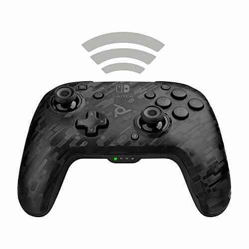 Manette Nintendo Switch sans fil Pdp Faceoff Deluxe Camouflage Noir 1