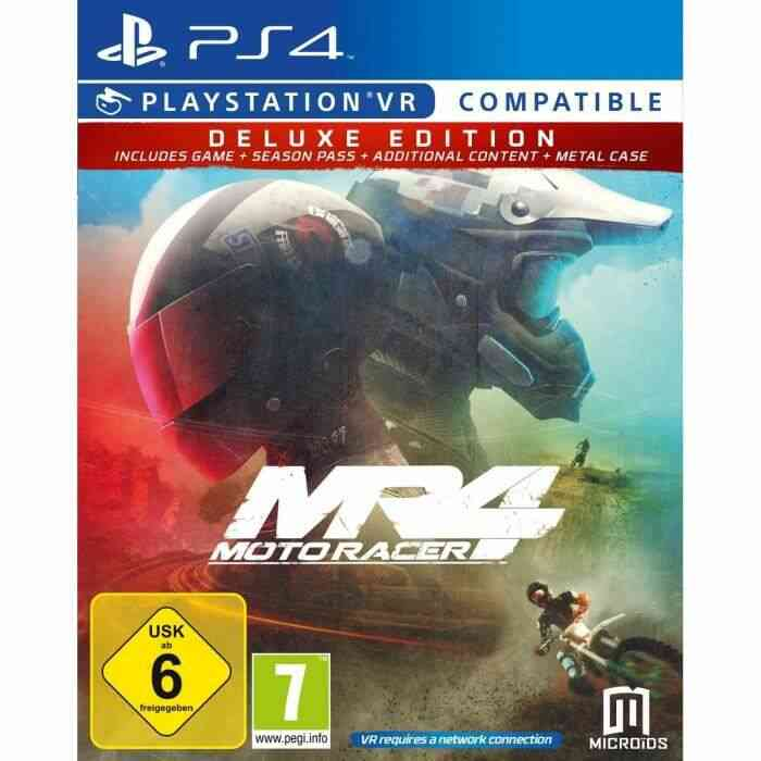 Moto Racer 4 Deluxe Season Pass+DLC+Steelbook Jeu PS4 + PlayStation VR 1