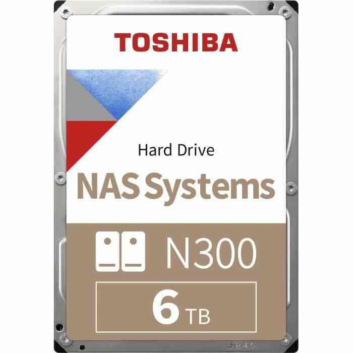 TOSHIBA - Disque dur Interne - N300 - 6To - 7 200 tr/min - 3.5- (HDWQ140EZSTA) 1