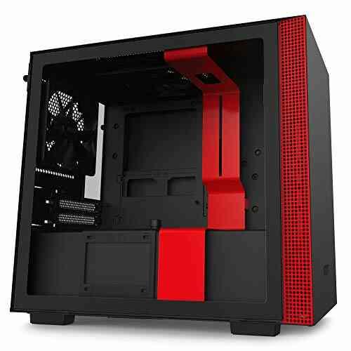 NZXT H210 - Boîtier PC Gaming Mini-ITX - Port I/O USB Type-C en Façade - Panneau Latéral en Verre Trempé - Compatible Refroidissement Liquide - Support pour 1