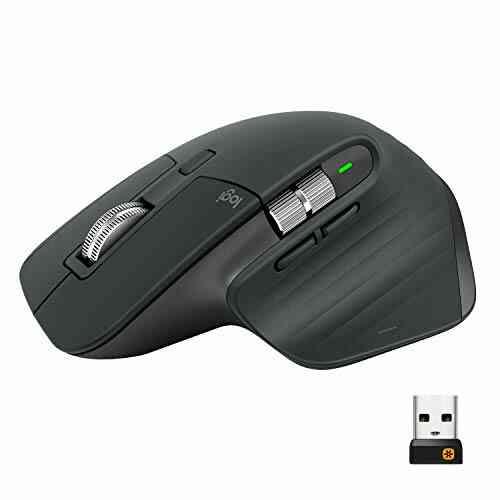 Logitech - Souris Darkfield MX Master 3 - Bluetooth/Radio Fréquence - USB - 7 Boutons - Graphite - Noir 1