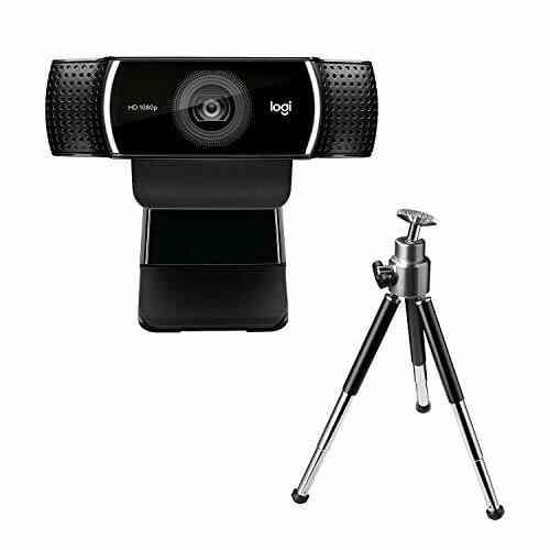 Logitech C922 Pro Stream Webcam, Streaming Ultrarapide HD 1080p/30ips/HD 720p/60ims, Audio Stéréo, Correction HD, Mise au Point Automatique, YouTube, Twitch, 1