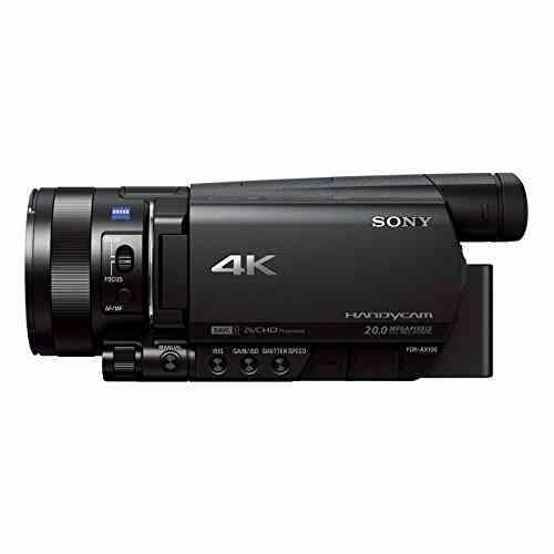 Sony FDR-AX100 Caméscope 4K 20.0 Mpix Capteur CMOS Exmor R Rétroéclairé de Type 1.0 1