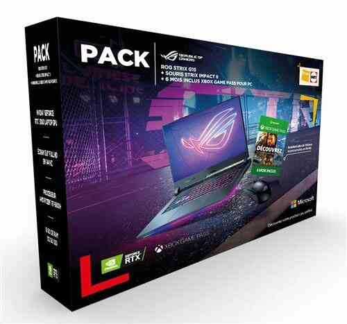 Pack PC Portable Gaming Asus STRIX-G15-G513QM-HN064T 15,6 AMD Ryzen 7 16 Go RAM 512 Go SSD Gris éclipse + Souris gaming Asus ROG Strix Impact II Noir + Game Pa 1