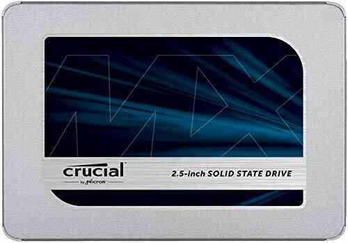 Crucial 500Go CT500MX500SSD1 SSD interne MX500-jusqu'à 560 Mo/s (3D NAND, SATA, 2,5 pouces) 1