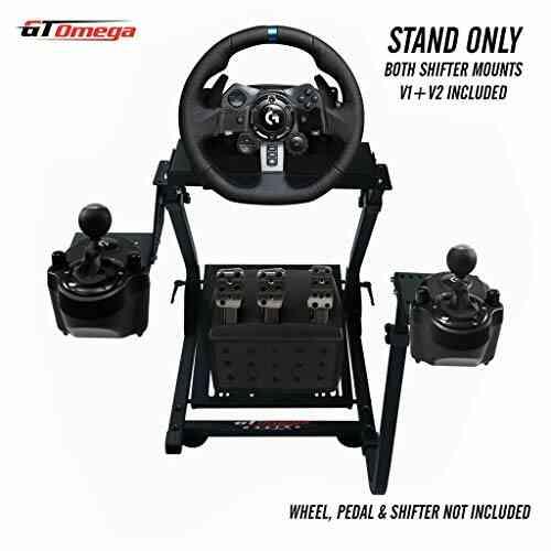 GT Omega Support de volant pour Logitech G923 G29 G920 Thrustmaster T500 T300 T300 TX & TH8A, monture de levier de vitesses V1 - PS4 Xbox Fa 1