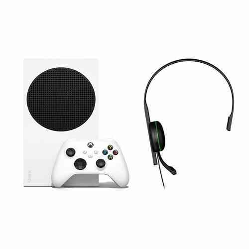 Pack Console Microsoft Xbox Series S Blanc + Manette Xbox Series X sans fil Robot White + Micro-casque Microsoft pour Xbox 1