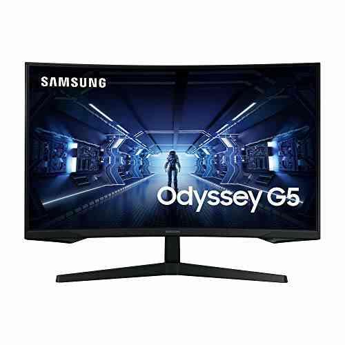 "SAMSUNG ODYSSEY G5 32'' Ecran PC Gaming Incurvé 1000R, Dalle VA 32"", Résolution WQHD (2560 x 1440), 144 Hz, 1ms, AMD FreeSync, HDR10, Noir 1"
