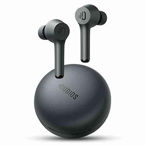 Écouteurs sans Fil Dudios T8, écouteurs Bluetooth avec Son de Basse immersif dans l'oreille avec étui de Chargement Portable (35 Heures de Lecture, contrôle 1