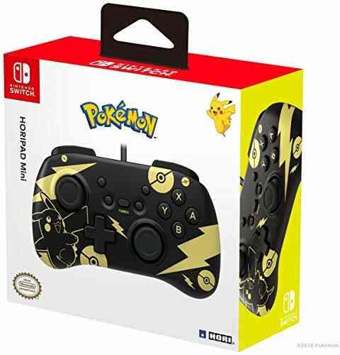 Horipad Mini Pokémon Pikachu pour Nintendo Switch Noir/Doré 1