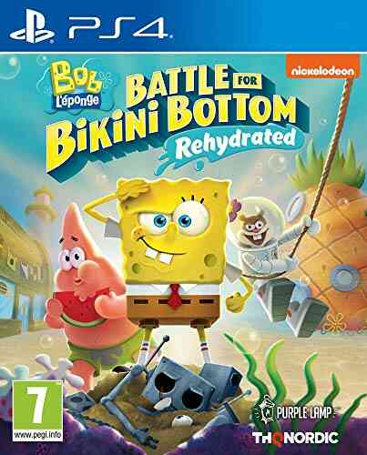 Jeux PS4 Thq Nordic Bob l eponge bataille pour bikini bottom rehydrate ps4 1