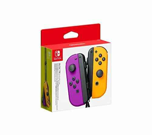 Nintendo Paire de Manettes Joy-Con Gauche Violet Néon/Droite Orange Néon 1