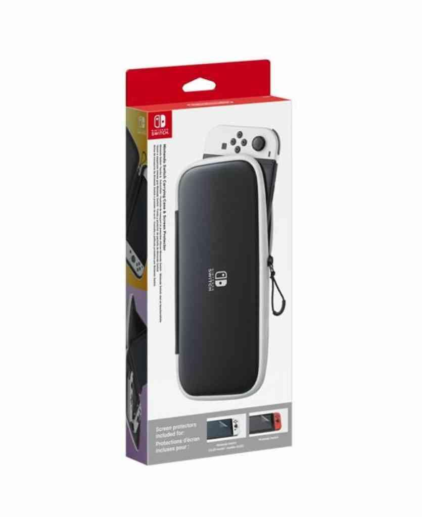 - Précommande - Pochette de transport et protection décran pour Nintendo Switch OLED Noir 1