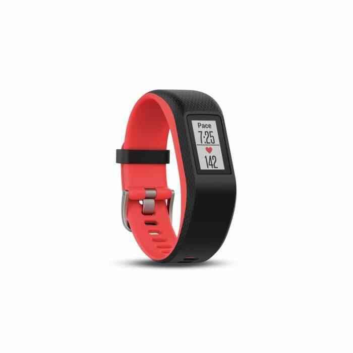 Bracelet de sport Garmin Vivosport Taille S/M Noir et fuchsia avec GPS et cardio poignet 1