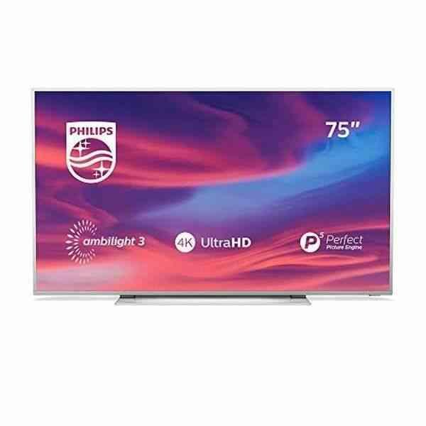 TV intelligente Philips 75PUS7354 75 4K Ultra HD LED WiFi Ambilight Argenté 1